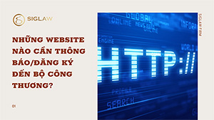 Những website nào cần thông báo/đăng ký đến Bộ Công Thương?