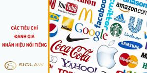 Các tiêu chí đánh giá nhãn hiệu nổi tiếng