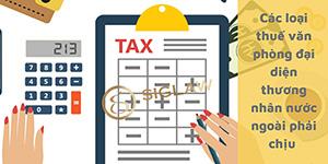 Các loại thuế mà văn phòng đại diện của thương nhân nước ngoài phải chịu?