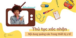 Thủ tục xác nhận nội dung quảng cáo trang thiết bị y tế
