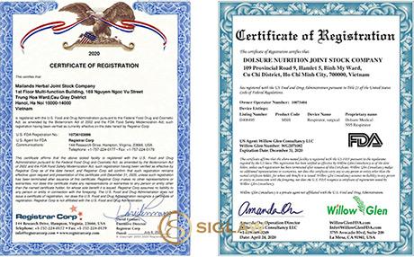 Dịch vụ Đăng ký, Chứng nhận FDA Thực phẩm
